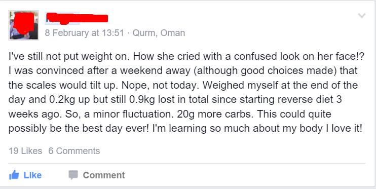 Reverse Diet Quote